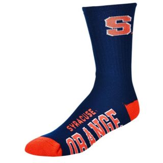 For Bare Feet College Big Logo Socks   Mens   Basketball   Accessories   Syracuse Orange   Navy/Multi