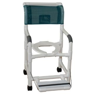 MJM International Standard Deluxe Shower Chair with Footrest