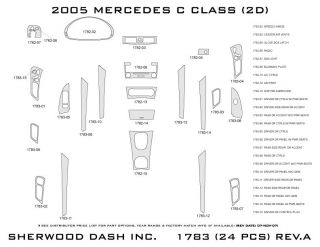 2005 Mercedes Benz C Class Wood Dash Kits   Sherwood Innovations 1783 CF   Sherwood Innovations Dash Kits