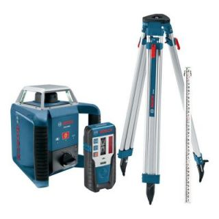Bosch 1300 ft. Self Leveling Rotary Laser Kit GRL400HCK