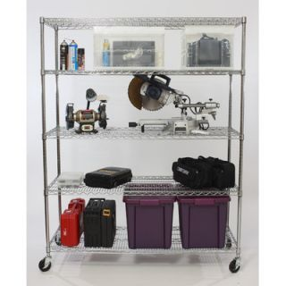 Trinity Five Tier NSF Extra Large Commercial Grade Shelving Rack in
