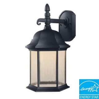 Hampton Bay Oxford Collection Black Outdoor LED Wall Lantern HB7042LEDP 05