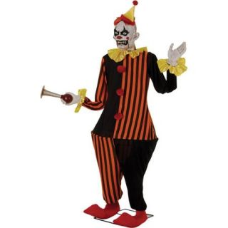 6' Life Size Animated Evil Halloween Clown Decoration