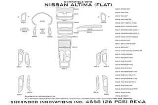 2013 Nissan Altima Wood Dash Kits   Sherwood Innovations 4658 AJ   Sherwood Innovations Dash Kits