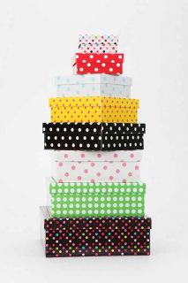 Polka Dot Storage Box   Set Of 8