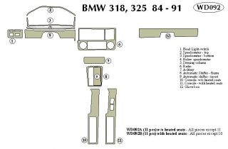 1984 1991 BMW 3 Series Wood Dash Kits   B&I WD092A DCF   B&I Dash Kits