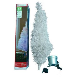 Holiday Time Pre Lit 2.5' Fiber Optic Artificial Christmas Tree, Concord White