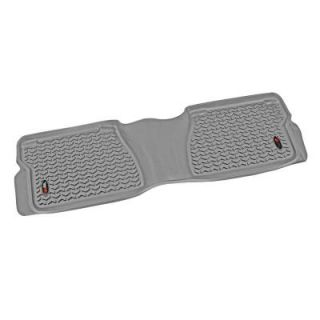 Rugged Ridge Floor Liner Rear 1 Piece Gray 2007 2011 Toyota Tundra Crew/Double Cab 84954.20