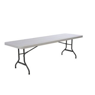 Lifetime 8 Commercial Grade Folding Table, Almond (Select Quantity)