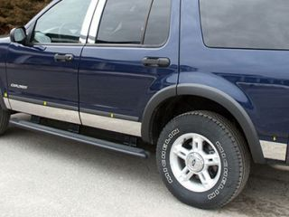 2002 2005 Ford Explorer Chrome Rocker Panels & Side Molding   ProZ TH44331   ProZ Rocker Panel Trim