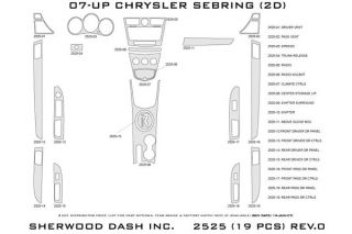 2010 Chrysler Sebring Wood Dash Kits   Sherwood Innovations 2525 R   Sherwood Innovations Dash Kits