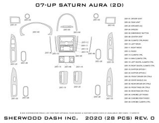 2007 Saturn Aura Wood Dash Kits   Sherwood Innovations 2020 CF   Sherwood Innovations Dash Kits