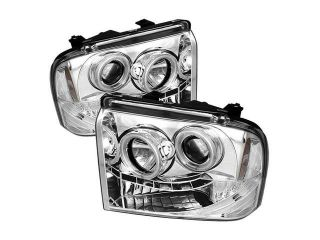Spyder Auto Ford F250/350/450 Super Duty 05 07 CCFL LED ( Replaceable LEDs ) Projector Headlights   Chrome PRO YD FS05 CCFL C