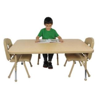 Mahar Creative Colors 72'' x 42'' Rectangular Classroom Table