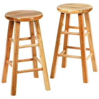 Winsome 24 Inch Square Leg Counter Stool   Set of 2