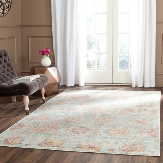 Safavieh Sevilla Light Blue/ Multi Viscose Rug (53 x 76)   17097214