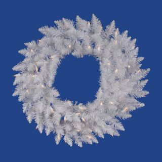 Vickerman 36 in Pre Lit Spruce Artificial Christmas Wreath with White LED Lights