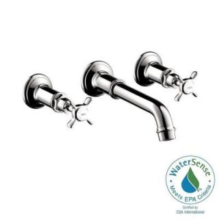 Hansgrohe Axor Montreux Wall Mount 2 Handle Bathroom Faucet in Chrome 16532001