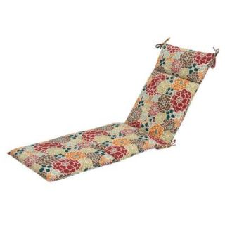 Hampton Bay Lois Floral Outdoor Chaise Lounge Cushion DISCONTINUED 7407 01000300