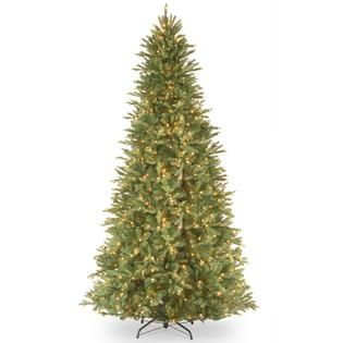 National Tree Company 12 ft. Tiffany Fir Slim Tree with Clear Lights