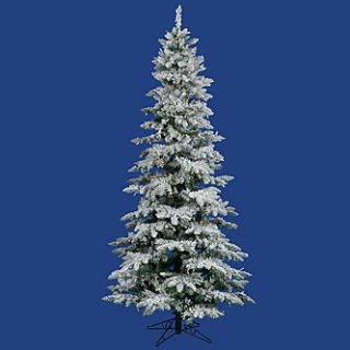 Vickerman 7.5 Flocked Utica Fir Tree with 400 Multi 6 color Dura Lit