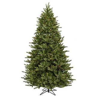 Vickerman 7.5 x 53 Med Majestic Frasier Fir Tree w/2295 PVC Tips & 950 Dura Lit Clear Light, Green