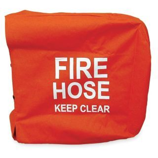MOON AMERICAN Fire Hose Cover,25 In.L,25 In.W,Red   Fire Hose and Fire Extinguisher Accessories   4KR24|138 29