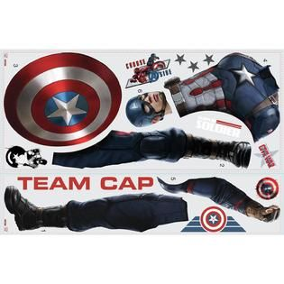 RoomMates Captain America Civil War Peel and Stick Giant Wall Decals