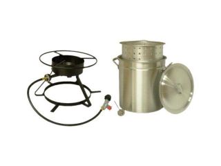 King Kooker 5012 Outdoor Propane Boiling And Steaming Cooker w/ Pot and Basket
