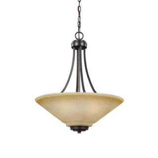 Sea Gull Lighting Parkfield 3 Light Flemish Bronze Indoor Pendant 6613003 845