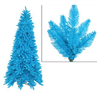 Vickerman 6.5 Sky Blue Ashley Spruce Christmas Tree with Clear and