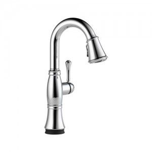 Delta 9997T DST Cassidy Single Handle Pull Down Bar/Prep Faucet w/Touch2O Technology   Chrome