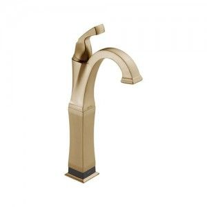 Delta 751T CZ DST Dryden Single Handle Vessel Lavatory Faucet w/Touch20.Xt Technology   Champagne Bronze