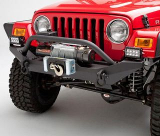 Body Armor 4x4   Jeep Wrangler Formed Front Bumper with Grill Guard and Winch Mount   Fits 1987 to 2006 Wrangler, Rubicon and Unlimited