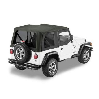 Bestop   Bestop Sailcloth Replace A Top Soft Top (Black Diamond), Replacement Top, 79129 35   Fits 2003 to 2006 TJ Wrangler and Rubicon