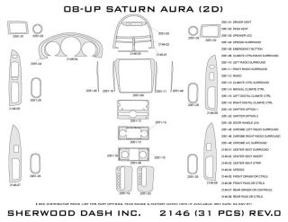 2008, 2009 Saturn Aura Wood Dash Kits   Sherwood Innovations 2146 CF   Sherwood Innovations Dash Kits