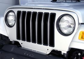 1997 2006 Jeep Wrangler Bar Billet Grilles   Rugged Ridge 11306.03   Rugged Ridge Grille Inserts
