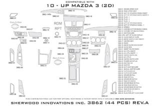 2011, 2012, 2013 Mazda 3 Wood Dash Kits   Sherwood Innovations 3862 R   Sherwood Innovations Dash Kits