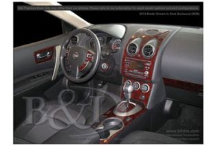 2011, 2012 Nissan Rogue Wood Dash Kits   B&I WD1009A DCF   B&I Dash Kits