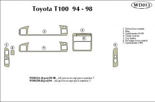 1995 1998 Toyota T100 Wood Dash Kits   B&I WD013A DCF   B&I Dash Kits