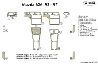 1995, 1996, 1997 Mazda 626 Wood Dash Kits   B&I WD010A DCF   B&I Dash Kits