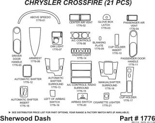 2004 2008 Chrysler Crossfire Wood Dash Kits   Sherwood Innovations 1776 CF   Sherwood Innovations Dash Kits