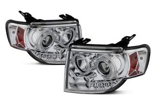 2008 2012 Ford Escape Headlights   Spyder PRO YD FES08 DRL C   Spyder Headlights