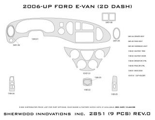 2006 Ford Econoline Wood Dash Kits   Sherwood Innovations 2851 N50   Sherwood Innovations Dash Kits