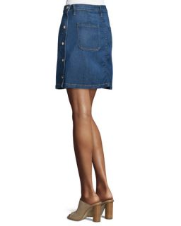 FRAME DENIM Antibes Side Button Denim Straight Skirt, Lucia