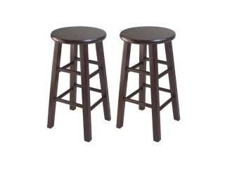 Winsome 24 Inch Square Leg Counter Stool, Set of 2