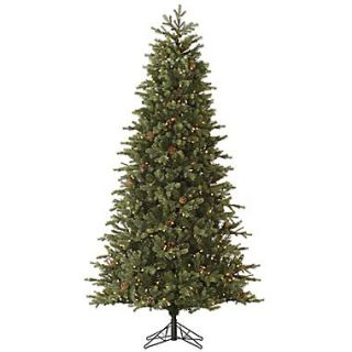 Vickerman Slim Rocky Mountain 7.5 Green Fir Artificial Christmas Tree w/550 Dura Lit Clear Lights