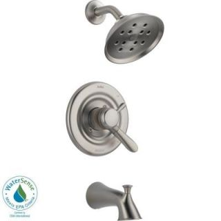 Delta Lahara 1 Handle H2Okinetic Tub and Shower Faucet Trim Kit in Stainless (Valve Not Included) T17438 SSH2O