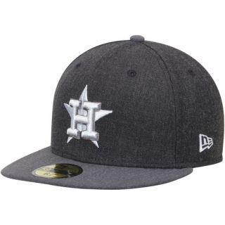 New Era Houston Astros Heathered Black/Heathered Gray Action 59FIFTY Fitted Hat