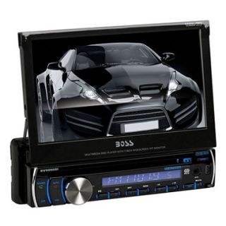 Boss Audio In Dash Single Din 7 Motorized Detachable Touchscreen Receiver With Bluetooth
